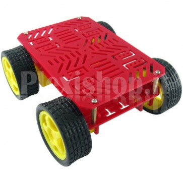 Robot Car 4WD acrylic red