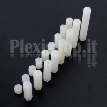 Nylon spacer female/female 18mm