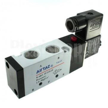 """Elettrovalvola pneumatica a 5 vie e 2 posizioni per aria e gas 4V310-10, G3/8"""""""