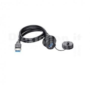 Connettore USB Femmina IP67 con cavo