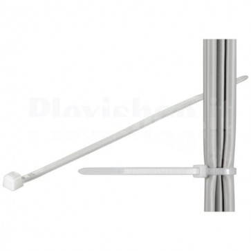 Fascette Fermacavi Autobloccanti 140x3,6mm in Nylon 100pz Bianco