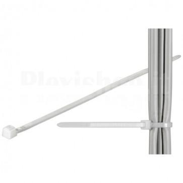 Fascette Fermacavi Autobloccanti 100x2,5mm in Nylon 100pz Bianco