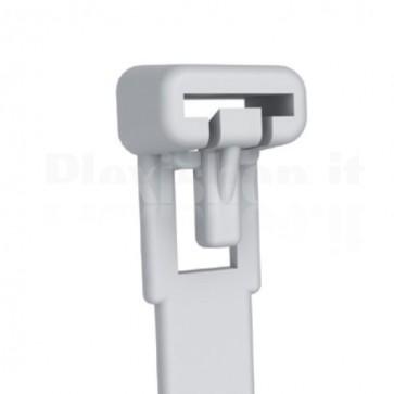 Fascette Fermacavi con Linguetta 200x7,6mm in Nylon 100pz Bianco