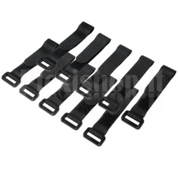 Fascette Fermacavo Nero in Velcro Set da 10 pz