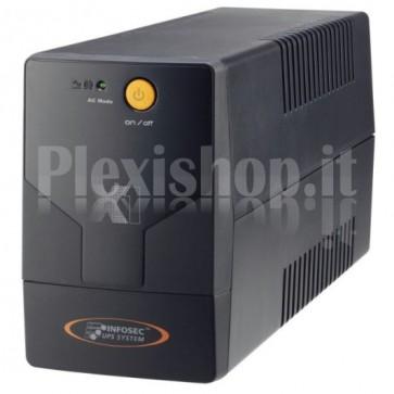 Gruppo di Continuità UPS X1 EX 500VA 2 Prese Schuko Nero