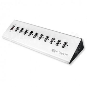 Hub USB 11 Porte in Alluminio con Ricarica Veloce