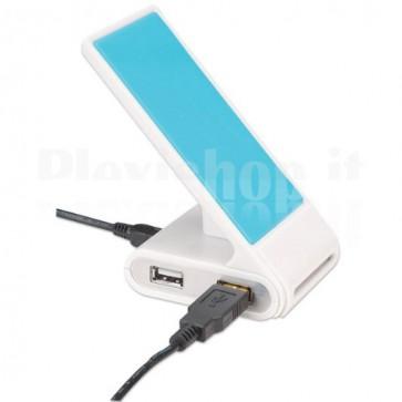 Hub USB 2.0 4 porte con Stand per smartphone
