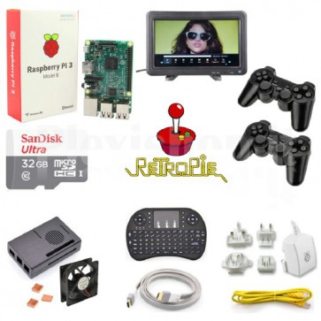 Kit RetroPie con display LCD 10