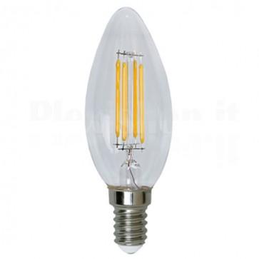 Lampada LED Candela E14 Bianco Caldo 3.2W Filamento Classe A++