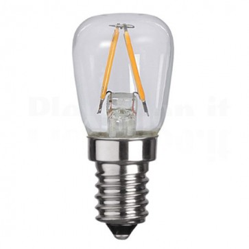 Lampada LED E14 Bianco Caldo 1.3W Filamento Classe A++ 2pz