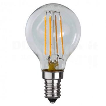 Lampada LED E14 Bianco Caldo 4W Filamento Classe A+