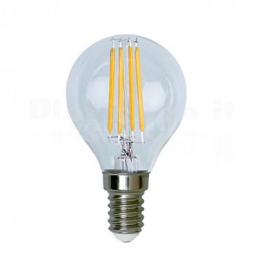 Lampada LED Globo E14 Bianco Caldo 3.2W Filamento Classe A++