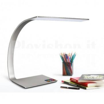 Lampada a LED da Tavolo con Regolazione Luminosità 14W Silver