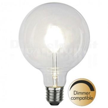Lampada a LED E27 G125 6W 600lm Bianco Caldo Dimmerabile, Classe A+