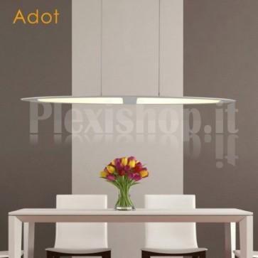 Lampada LED a Sospensione 28W 3000K Ovale Silver