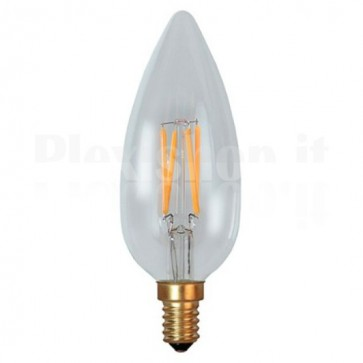 Lampada LED Candela E14 Bianco Caldo 3,5W Filamento Dimmerabile A+