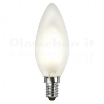 Lampada LED Candela Smerigliata E14 Bianco Caldo 1,8W Filamento A+