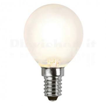 Lampada LED E14 Smerigliata 4W Filamento Dimmerabile Classe A+