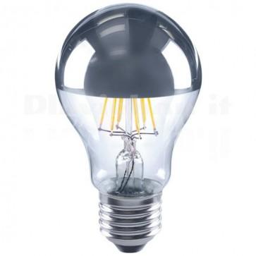 Lampada LED E27 Testa a Specchio 4W Bianco Caldo Filamento Classe A+