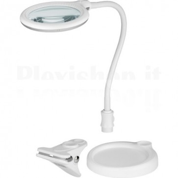 Lente di Ingrandimento 30 LED SMD 5W con Clip e Collo Flessibile, A+