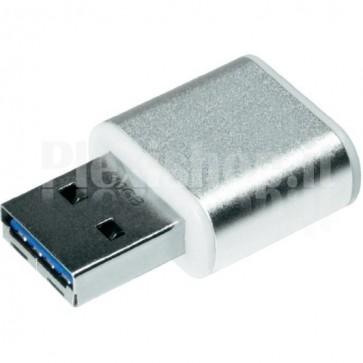 Memoria Mini Metal USB 3.0 Verbatim 16GB Silver