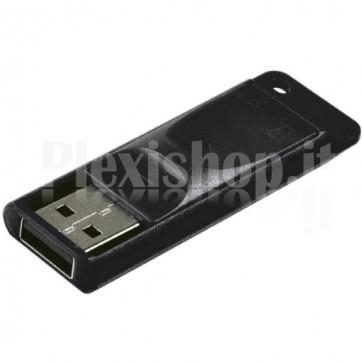 Memoria USB Verbatim 64GB Slider Nero
