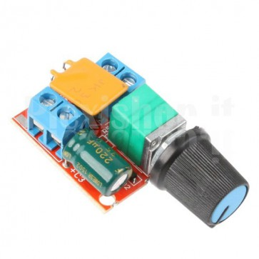 Micro regolatore di velocità per motori in continua PWM, 3-35V