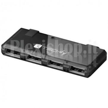 Mini Hub USB Hi Speed 4 Porte Nero