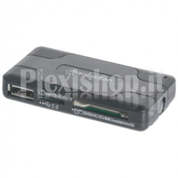 Mini Hub USB 2.0 con lettore di memorie 40 in 1
