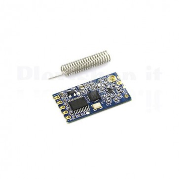 HC-12 module at 433MHz for wireless RS232 serial connections between devices up to 1km