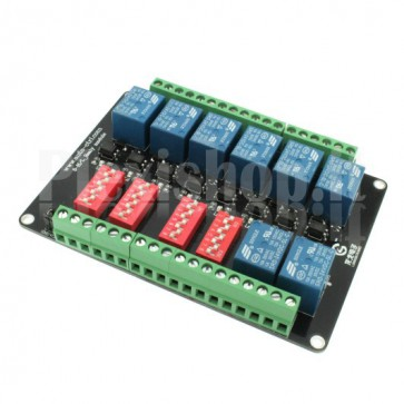 8 Channel high-speed optoinsulated Relay Module, 10A 24V