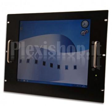 Monitor LCD 21,5'' per Rack 19'' 8 Unità Nero