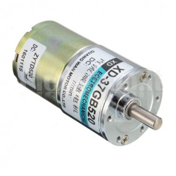 Motore elettrico con riduttore di giri, XD-37GB520, 12Vcc 15RPM