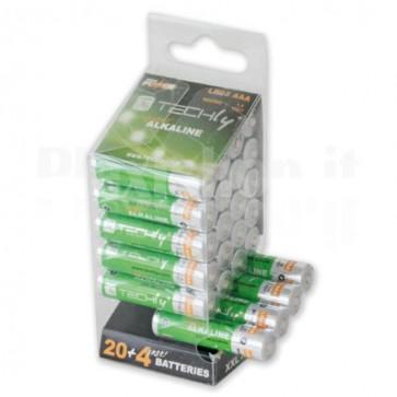 Multipack 24 Batterie High Power Mini Stilo AAA Alcaline LR03 1,5V