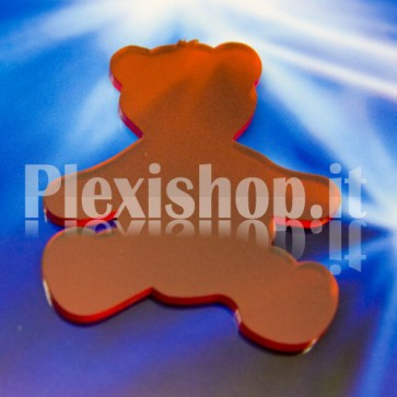 2 Red Bears Plexiglass