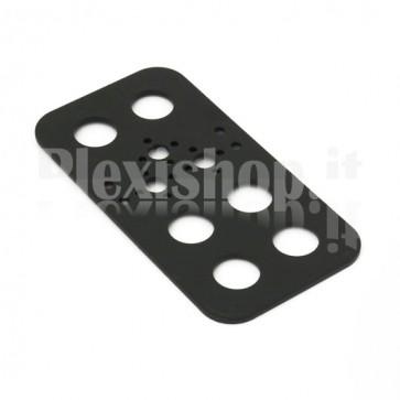 Aluminium plate for motor fastening