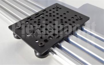 Piastra in alluminio V-Slot, 125x88