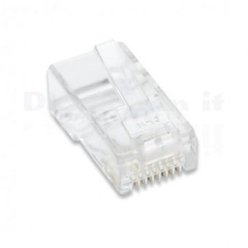 Confezione 10 Plug RJ45 8 poli UTP per UTP C5e