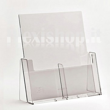 Double A6 brochure holder