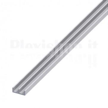 Profilo Alluminio a Doppia U 16x7x1 mm