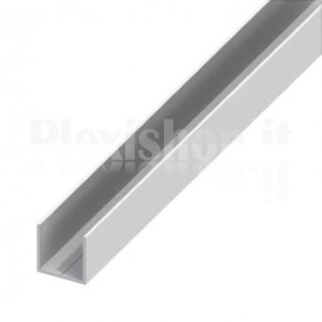Profilo Alluminio ad U 12x12x1 mm