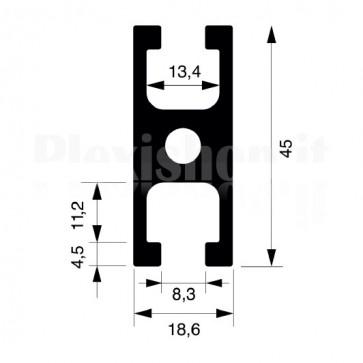 Profilo strutturale in alluminio S17 - 2,2 mt
