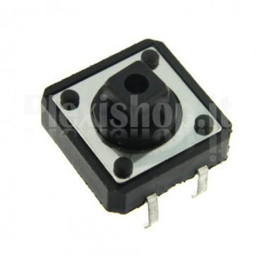Pulsante di tipo tact da circuito stampato, 12x12x7.3mm