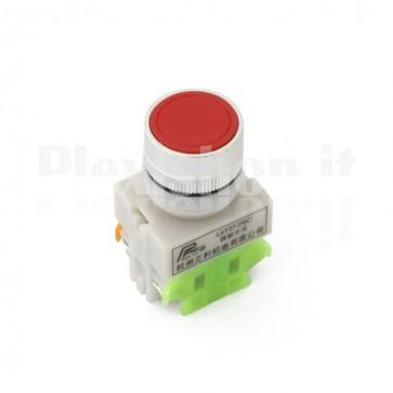Pulsante industriale Rosso 1XNO + 1xNC