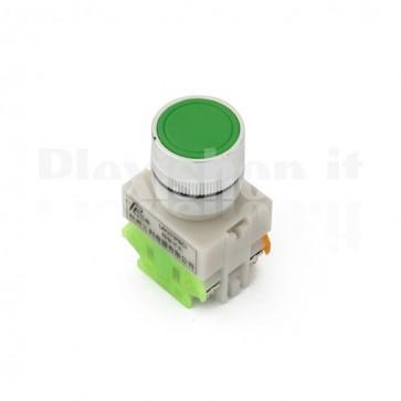 Pulsante industriale Verde 1XNO + 1xNC