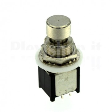 Pulsante metallico PBS-24-212S ON-(ON) DPDT