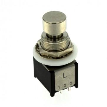 Pulsante metallico PBS-24-302S ON-ON 3PDT