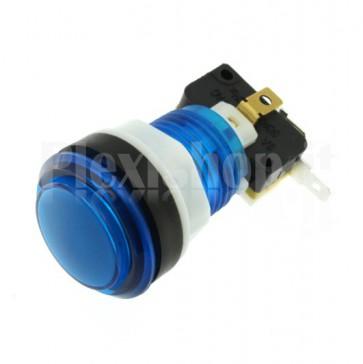 Pulsante tondo luminoso Blu, 33mm 3A