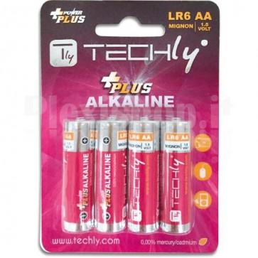 Blister 4 Batterie Power Plus Stilo AA Alcaline LR06 1,5V