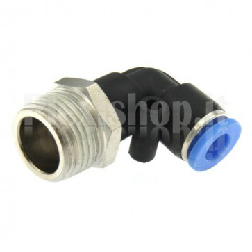 L type pneumatic automatic fitting – 4 mm / thread 3/8""